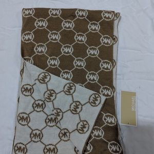 Michael Kors Repeat Argyle Camel Cream Scarve